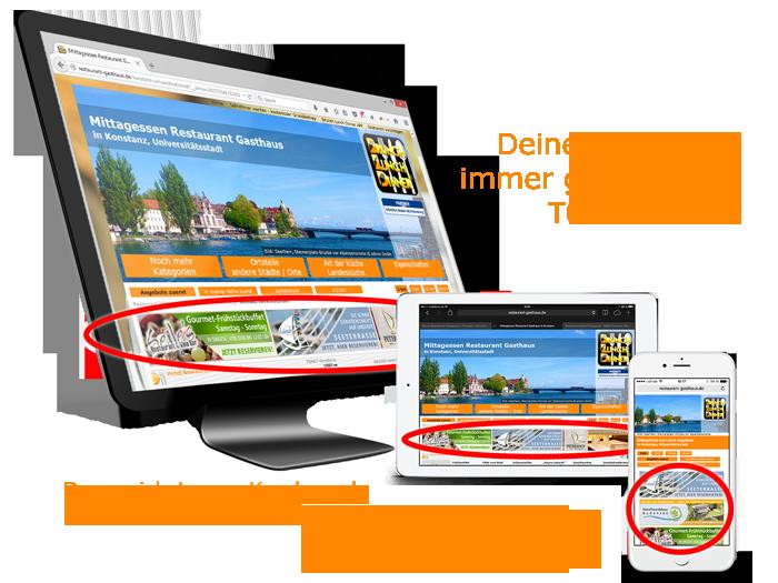 Lokal-regionale Werbung, Werbeanzeigen, Internet AdBanner-Werbung in Top-Position für den Landkreis Konstanz